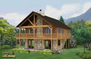 lake home plans narrow lot golden eagle log homes floor plan details boundary