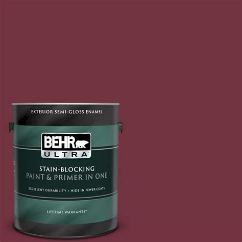 behr ultra 1 gal mq1 rumors gloss enamel exterior paint and primer in one 585301 the