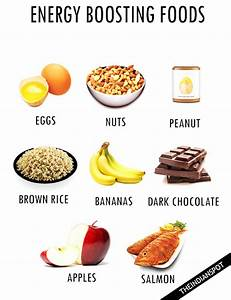 LIST OF ENERGY BOOSTING FOODS