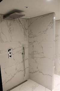 salle de bain plaque imitation carrelage salle de bain With carrelage marbre salle de bain