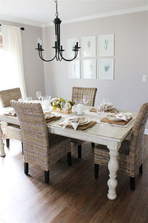 modern farmhouse dining room neutral thanksgiving