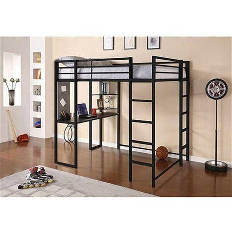 metal bunk bed with desk size metal loft bunk bed workstation computer