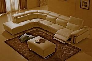 canape d39angle relax en cuir buffle italien de luxe With canape cuir epais