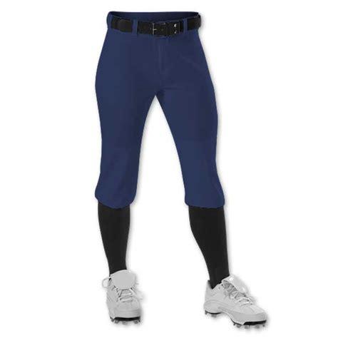 alleson knicker softball pants womens girls team