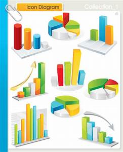 Set Of Diagram Icons Vector 01 Free Download