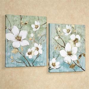 20 Best Collection of Teal Flower Canvas Wall Art Wall