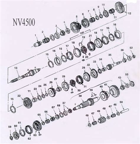 92 Chevy 1500 Transmission Diagram by Nv4500 Transmission Parts