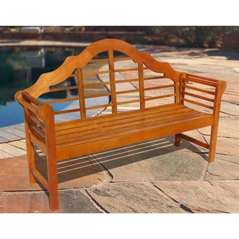 vifah 174 outdoor shorea bench 218623 patio furniture at