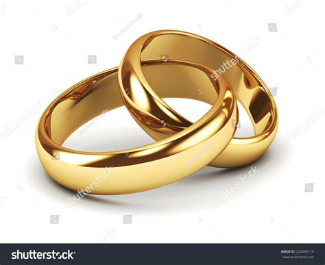 a pair of gold wedding rings stock photo 224093119