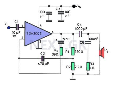 amplifier  tda circuit audio amplifier