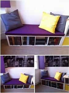 Banc Interieur Ikea : une banquette diy avec kallax ~ Teatrodelosmanantiales.com Idées de Décoration