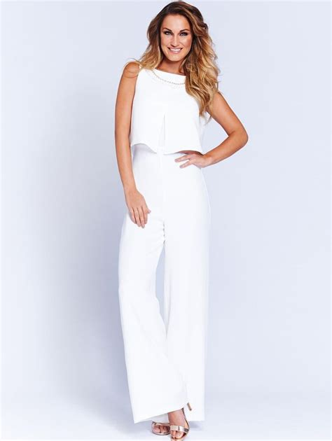 formal white jumpsuit white sam faiers jumpsuit simple conservative and