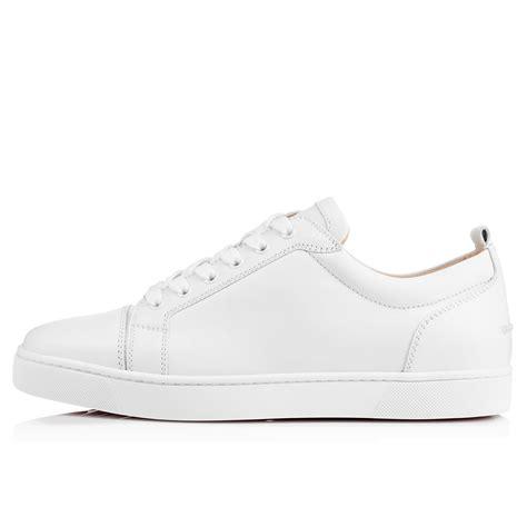 louis junior white calfskin men shoes christian louboutin