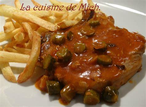 recette de cuisine belge côte de porc charcutière la cuisine de mich