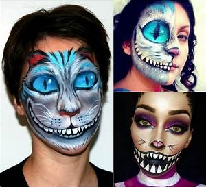 Halloween Schmink Bilder : katzengesicht schminken fasching ideen f r kinder und erwachsene ~ Frokenaadalensverden.com Haus und Dekorationen