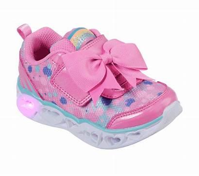 Lights Heart Sparkle Spark Skechers Pink Shoes