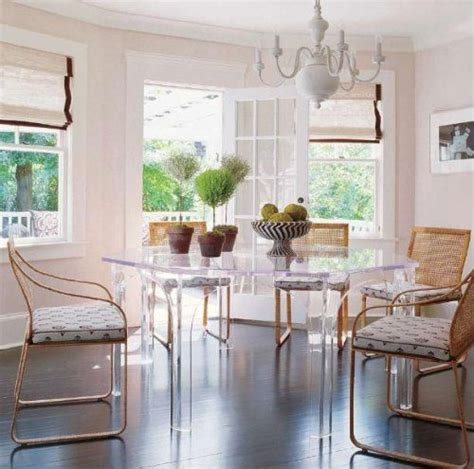 Lucite dining table Dining room contemporary Interior Home