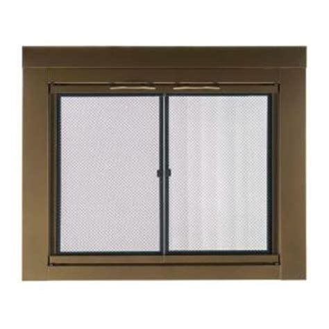 home depot fireplace doors pleasant hearth ashlyn small glass fireplace doors ah 1200