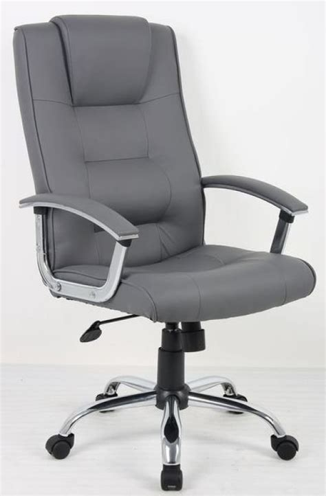 guildford executive suede height adjustable chair brown