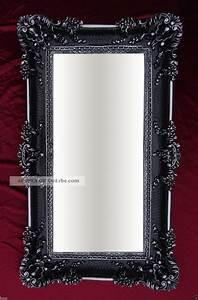 Barock Spiegel Xxl : xxl renaissance wandspiegel schwarz silber barock wanddeko ~ Lateststills.com Haus und Dekorationen