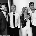 Awww! Liam and Chris Hemsworth with mum Leonie and dad ...