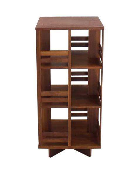 Revolving Danish Midcentury Modern Bookcase For Sale At
