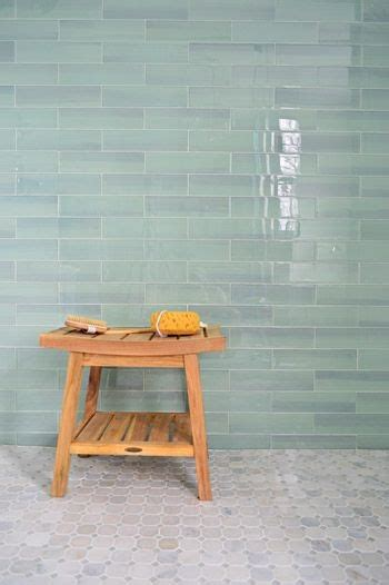 walk in bathroom shower ideas sea glass colored tile gray floor tile with sea glass