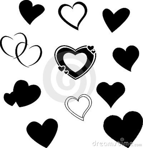 heart silhouettes royalty  stock image image