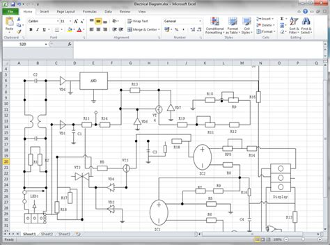 Electrical Diagram Template by Circuit Diagram For Excel Blueprints In 2019 Process
