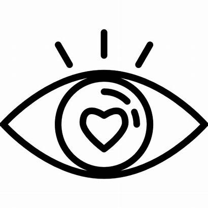 Icon Attractive Icons Eye Romance Web Seo