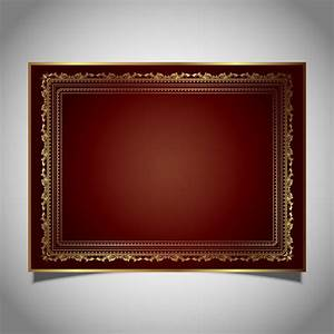 Decorative frame in metallic gold colours Vector | Free ...