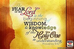 The fear of the LORD is the beginning of wisdom - Free ...