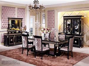 Black Dining Table Scarlett Classic Dining