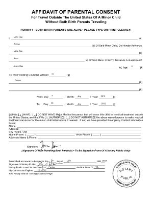 affidavit of parental consent form | Mexico in 2019