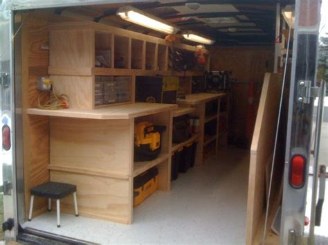 contractor tool trailer setup