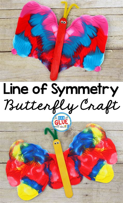 line of symmetry butterfly craft a dab of glue will do 830   cd2f498011a4d260c5c1e6f006270815