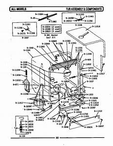 Tub Assembly  U0026 Components Diagram  U0026 Parts List For Model