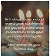 Birthday Wishes to Best Friend - Best Friend Birthday Quotes