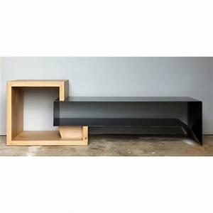Meuble Tv Metal Noir : meuble tv metal avec tiroirs meuble tv design ~ Teatrodelosmanantiales.com Idées de Décoration