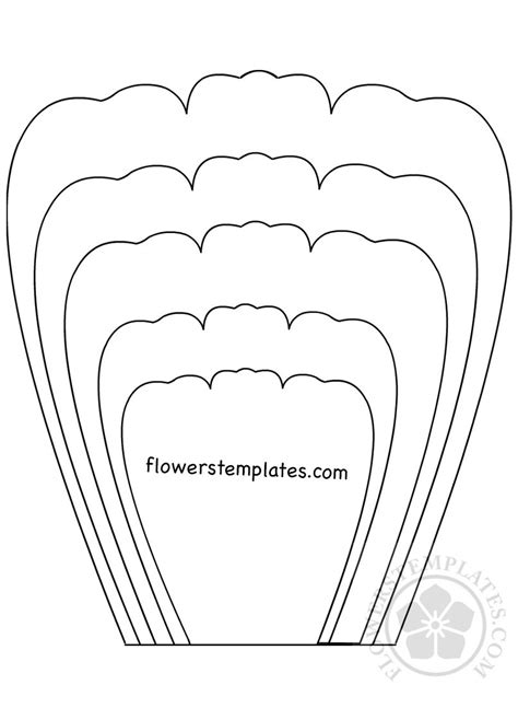 Flower Template Petal Template Printable Flowers Templates