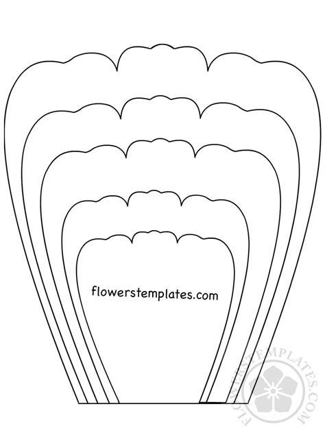 Flower Template Printable Petal Template Printable Flowers Templates