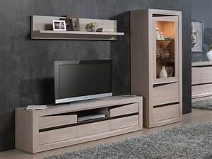 Meuble Tv Chene Massif Moderne : meuble tv massif moderne ~ Teatrodelosmanantiales.com Idées de Décoration