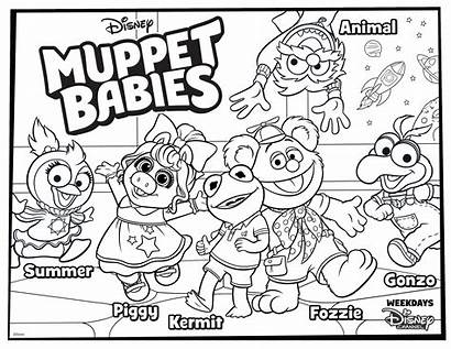 Muppet Coloring Babies Pages Disney Printable Muppets