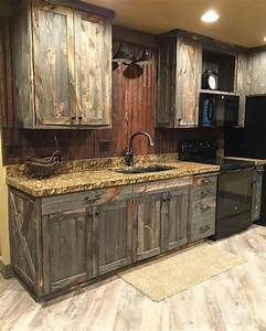 barn wood kitchen cabinets With barn wood style kitchen cabinets