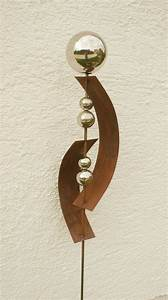 Gartendeko Rost Selber Machen : gartendeko skulptur rost deko mit 5 edelstahlkugel t pfern edelstahlkugeln deko und skulpturen ~ Orissabook.com Haus und Dekorationen