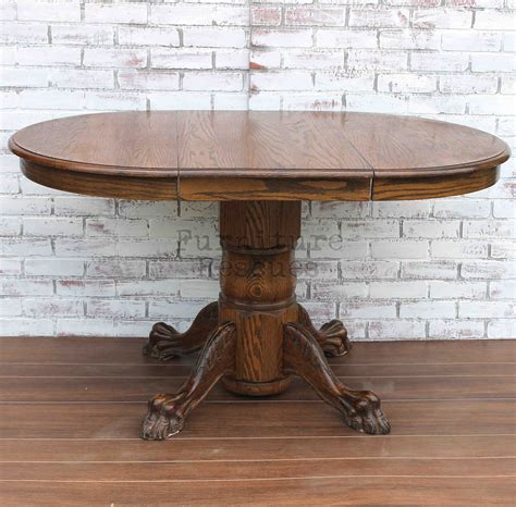 Small Clawfoot Pedestal Dining Table   Furniture Rescues