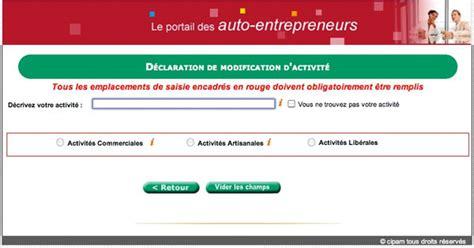 chambre des metiers auto entrepreneur inscription comment modifier activité auto entrepreneur la réponse
