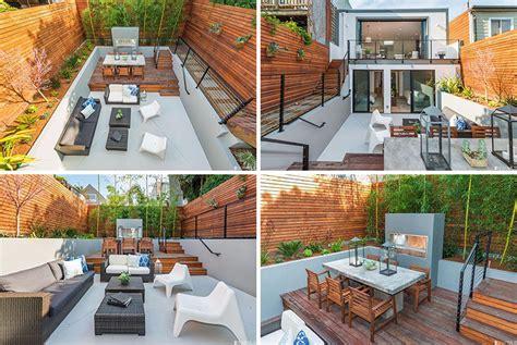 Home Design Backyard Ideas by Backyard Design Idea Use Levels To Define