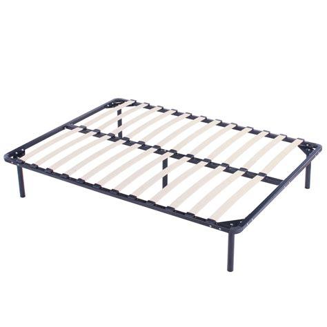 Full Size Wood Slats Metal Platform Bed Frame Mattress