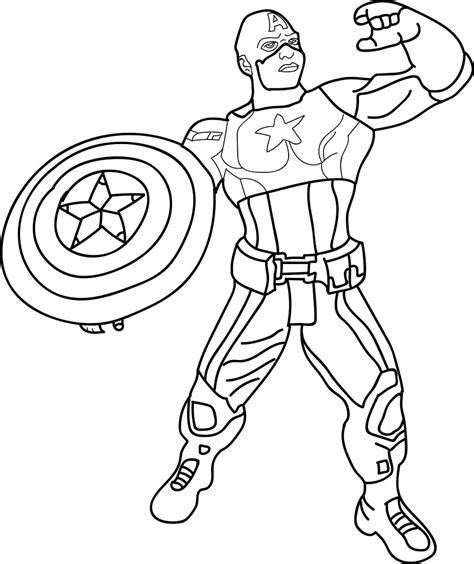 Kaptain Amerika Kleurplaat by 30 Printable Captain America Coloring Pages